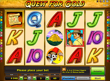 онлайн аппарат Quest For Gold 5